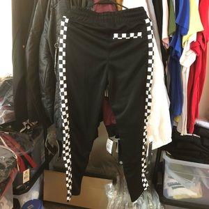 Pants - 🚫Sold🚫Checkered Track Pants - Black